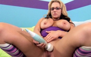 Horny Nikki has fun playing with some naughty toys.