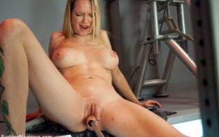 Rain Degrey - built for fucking speed - nailed at mach 4 by custom machines until she cums in full out of body orgasms - so loud,so hard, so fast, so