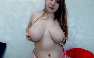 Nice girl with big boobs on CAM