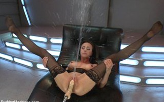 Literal streams of cum shoot out of the super famous porn star\'s pussy. See the legend soak everything in sight with EPIC orgasms filmed by 3 cameras.