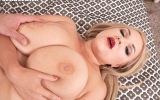 All natural blonde Diana Frost first hardcore scene