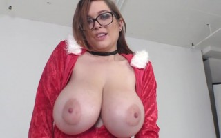 Tessa Fowler Big Jugs Goes Out Wearing Her Santa Outfit