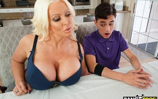 Busty step mom Alura Jenson got a new fuck toy