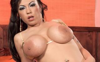Busty Asian stripper Kiko Lee's big areolas