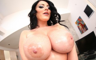 Sophie Dee sucks and tits fuck a lucky guy's cock in POV !