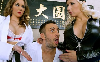 Keiran is ready to master the next level at the Dragon Tough dojo, and faces a final challenge. Kung Fu Masters Kiera King and Sammie Spades have decided to show him their new unorthodox techniques. That's right - it's time for Mr. Lee to Enter the Vagin.