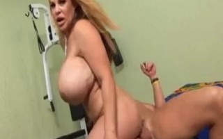 Man fucks mature with huge tits and ass.