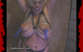 Claudia-Marie's Big Saggers Get Tied Up & Abused