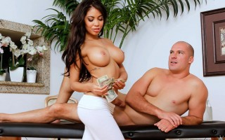 Big tits latina Shay Evans lubed up and horny