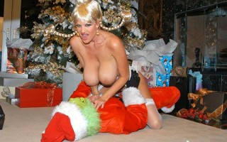 Busty MILF Kelly Madison gets visit by Mr. Grinch