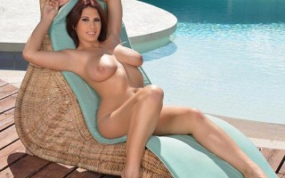 Sunny masturbation, titty squeezing and nipple play by the pool with Aida Swinger