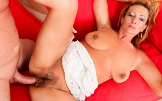 Dillon creampies the hairy pussy of a nasty big boobed MILF
