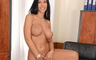 Beautiful Kyra Hot Teases With Her 36C's & Fingers Her Pussy