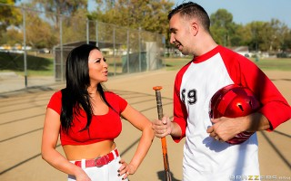There's nothing like a good game of baseball to get the heart pounding, but when Keiran Lee hit the field for a little batting practice, the big-dicked Brit was having some trouble mastering America's pastime. Audrey Bitoni saw him struggling, and decided