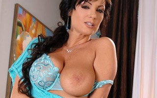 Busty Legend Sheila Grant Titty-Fucks A Vibe With Her 36D's