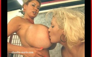 Claudia-Marie and legend Minka in a huge tit bonanza