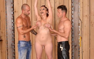 Leila Moon Bound, Fisted & Double Penetrated by 2 Masters