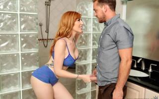 Showering Lauren Phillips with cum