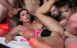 Gangbang and Gloryholes with Olga Love and Sexy-Susi