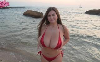 Demmy Blaze tiny bikini at the beach