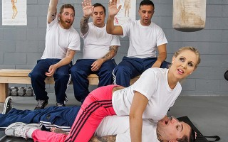 Fighting master Julia Ann is faced with four sorry chumps, and she has to try to turn them into strong cadets that can fight swiftly and with confidence. But only Keiran has the necessary abilities to overcome Julia's powerful titties and end up on top...