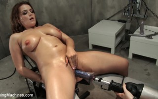 Natasha Nice has her tits sucked by Goat Milkers, her pussy fucked by robot drills & a mighty machine & still cums like she hasn\'t had sex in months!