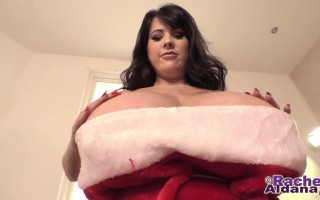 Busty Rachel Aldana Unleashed in Her Santa Costume