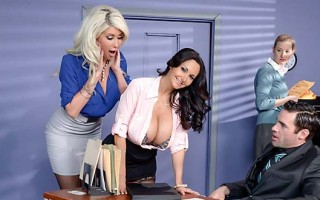 A busty day at the office with Ava Addams and Riley Jenner