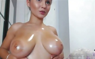 Dancing again? No, just oily boobies!!