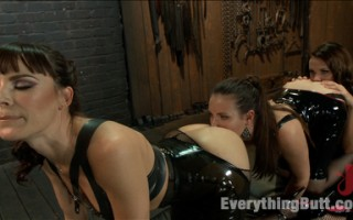 Extreme Anal sex with double fisting, cum enemas, speculums, squirting, strapon and ass worship.